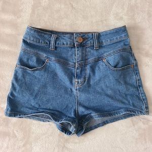 Super hide rise seam shorts